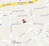 Mappa per raggiongere il catasto di Oristano