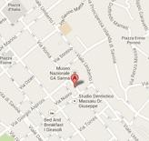 Mappa per raggiongere il catasto di Sassari